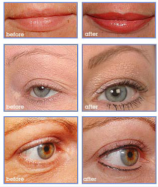 Permanent Make Up Cosmetics Before & After Pictures